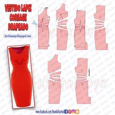 For leather black Pattern Draping, Gown Pattern, Dress Sewing Patterns, Clothing Patterns, Skirt Patterns, Coat Patterns, Karneval Diy, Patron Vintage, Diy Kleidung