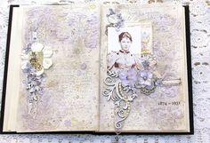 Scraps of Elegance - Somerset memories published artist. Art journal.