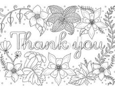 Thank You Cards Printable Coloring Page