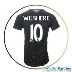 Maillot foot Arsenal noir WILSHERE 10 Third 15 2016 2017