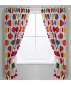 ColourMatch Kids' Spot Curtains - 168 x 137cm.