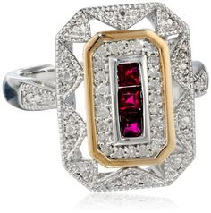 S&G Sterling Silver and 14k Yellow Gold Diamond and Ruby Art Deco Style Ring, Size 5 Amazon Curated Collection,http://www.amazon.com/dp/B007BL67MG/ref=cm_sw_r_pi_dp_DTOHtb19SH2ZN5E3