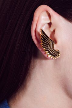 Tatty Devine - Pegasus Earrings - gold mirror - 30£