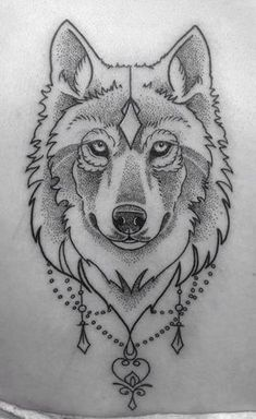 Wolf tattoo • Dot work • #tattoo #wolf #dotwork Tattoo by Kitty Foster• Arkham Tattoo• Oxford•