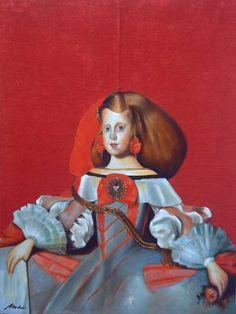 "Saatchi Art Artist Jesús Meko; Painting, ""Studies from Prado Museum: Infanta"" #art"