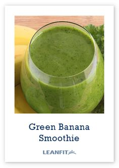 Green Banana Smoothie -- Made with LeanFit completegreen protein, almond milk and greens. So easy to make Protein Smoothies, Protein Recipes, Protein Foods, Plant Based Protein Powder, Green Banana, Healthy Alternatives, Almond Milk, Cucumber, Vegan