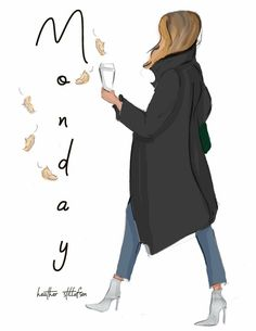 """"""" stay positive and grateful 🍂☕️🍁"""" Weekday Quotes, Illustration Mode, Illustrations, Girly, Fashion Sketches, Woman Quotes, Quotes Girls, Art Girl, Fashion Art"""
