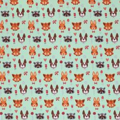 Rijs Textiles sells the designer fabrics from Mi & Joe Fabrics. Beautiful fabric of a high quality. Jersey, Fabric Design, Mint, Textiles, Cotton, Animals, Animales, Animaux, Animal