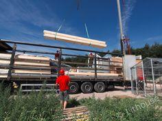 Unloading materials. Netherlands, Construction, House, The Nederlands, Building, The Netherlands, Home, Holland, Homes