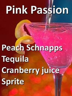 Pink Lemonade Vodka Punch Pink passion – Cocktails and Pretty Drinks Sauce Cocktail, Cocktail Drinks, Pink Cocktails, Pink Party Drinks, Birthday Drinks, Fancy Drinks, Summer Cocktails, Liquor Drinks, Beverages