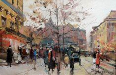Branko Dimitrijevic, Autumn, Oil on canvas, 20x30cm, £260