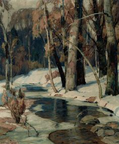 John Fabian Carlson (USA 1874-1945)Sunlit Stream (n.d.)oil on canvas 30 x 25 in.