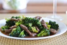 fast, easy beef with broccoli.