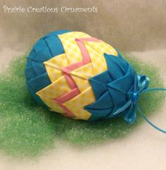 Quilted Ornament Easter Egg Traditional by MyPrairieCreations, $18.00