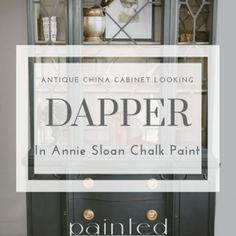 Step by step list will reveal the secret to how to paint high gloss finish on wood furniture. - Painted Furniture - Painted by Kayla Payne Antique China Cabinets, Painted China Cabinets, Painting Oak Cabinets, Oak Kitchen Cabinets, Chalk Paint Furniture, Painted Furniture, Furniture Makeover, Diy Furniture, Dresser Makeovers