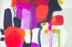 """""""On Time"""" by Claire Desjardins. 36""""x24"""" - Acrylics on canvas."""