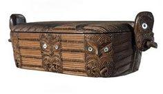 Wakahuia (treasure box) - Collections Online - Museum of New Zealand Te Papa Tongarewa Polynesian People, Maori Art, Treasure Boxes, Abalone Shell, Wood Carving, Diversity, New Zealand, Museum, Collections