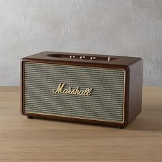 Shop marshall stanmore bluetooth speaker. Designed to resemble their classic guitar amp, Marshall upgraded this compact speaker with tons of technology and clean, precise sound.