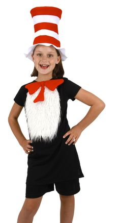 If we've learned anything from Dr. Seuss's book, it's that cats can get away with just about anything, especially if they're wearing a hat! While wearing this Adult Cat in the Hat T-Shirt Kit, you mig