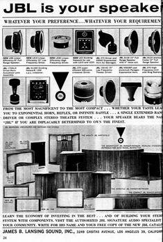 retro vintage modern hi-fi: JBL IS YOUR SPEAKER Advert 1958