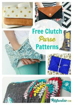 Free Clutch Purse Patterns- lots of bag tutorials