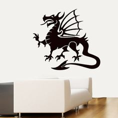 Wall Decals Chinese Dragon Home Vinyl Decal by DecalMyHappyShop