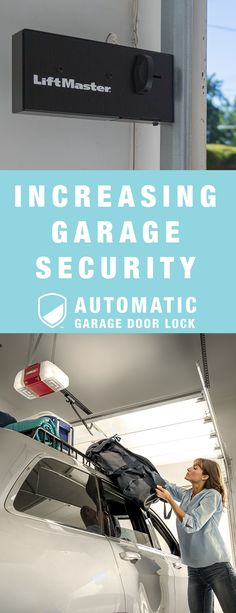 More than 70% of homeowners use the garage as a main access point. Add a layer of protection with LiftMaster's automatic garage door lock.