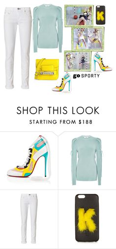"""""""Street Sport"""" by juliabachmann ❤ liked on Polyvore featuring Christian Louboutin, Adeam, rag & bone, Fendi and Proenza Schouler"""