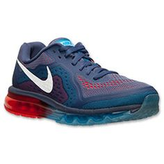 Men's Nike Air Max 2014 Running Shoes | Finish Line | Blue Recall/Vivid Blue