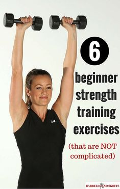 6 beginner strength training exercises - that are simple and not complicated - best exercises to start a weight lifting routine. Extreme Fitness, Extreme Workouts, Fitness Tips, Fitness Motivation, Butt Workouts, Health Fitness, Strength Training For Beginners, Strength Training Workouts, Workout For Beginners