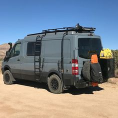 adventuring on the Mojave Trail in his Sportsmobile Sprinter van … - van life Mercedes Sprinter Camper, Vw Lt Camper, Travel Camper, Off Road Camper, Camper Life, Rv Campers, Autos Mercedes, Van Mercedes, Bmw Autos