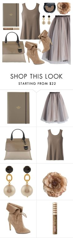"""""""Taupe - #126"""" by cielogy ❤ liked on Polyvore featuring Undercover, Chicwish, DKNY, TravelSmith, Marni, Cynthia Rowley, 424 Fifth, Too Faced Cosmetics, Bobbi Brown Cosmetics and plus size clothing"""