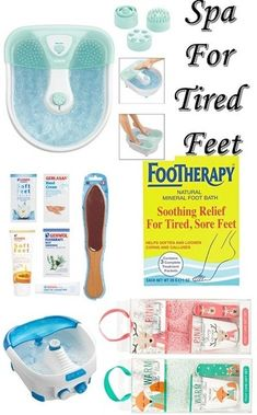 Tired Feet Spa - All you need for a feel good and calming sore feet - bubbles foot bath massage - Soft Feet Treatment Kit - Birthday gift #shopthelook #GirlsNightOut #relax #feettherapy #ad