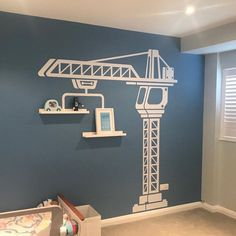This item is not available - Construction crane vinyl wall sticker boys bedroom wall