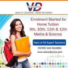 """Individual attention is key to #success""  VD Academics started enrollment for STD 9th, 10th, 11th & 12th - #Maths #Science Students by Team of 50 Expert #Teachers who provides proper guidance. Call: +91 9867149134 / +91 9819039014 #CBSEBoard #ICSE #ISC #coaching"