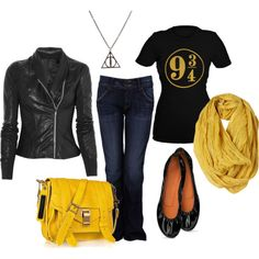 A Harry Potter inspired outfit that 9 3/4 is awesome :)