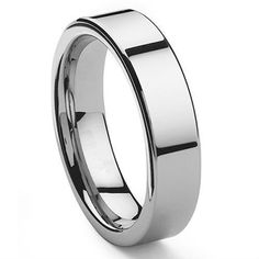 Tailor Made 6mm Flat Tungsten Carbide Ring Wedding Band Size 4-18 whole, half & quarter (#NR046)