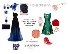 """Royal dressing"" by aliza-ahmed on Polyvore featuring Ted Baker, Suzanne Bettley, Bling Jewelry, Judith Leiber, Miu Miu, Jimmy Choo, Bloomingdale's, Larsson & Jennings and Milani"