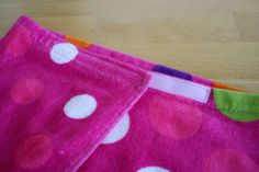 DIY Beach Towel Cover up.  Another learn to sew project for the sewing machine.