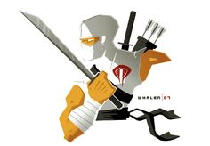 Storm Shadow by Tom Whalen Ryu Hayabusa, Heavy Metal Comic, Tom Whalen, Storm Shadow, Shadow 1, Gi Joe Cobra, Pop Culture Art, Snake Eyes, Artwork Display
