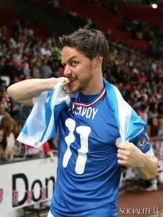 James McAvoy being adorable as usual! Soccer Aid 2014