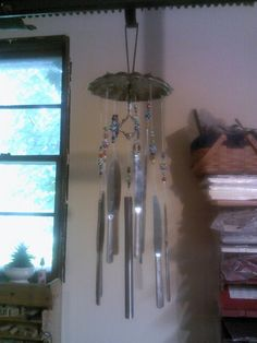 Silverware wind chimes