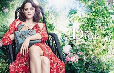 Marion Cotillard poses at Christian Dior's childhood home for Lady Dior campaign