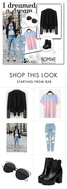 """""""Romwe 8/VI"""" by nermina-okanovic ❤ liked on Polyvore featuring Topshop, men's fashion, menswear and romwe"""