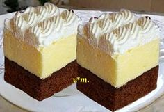 Pin by Monica Maria on Deserturi Romanian Desserts, Romanian Food, Sweets Recipes, Cake Recipes, Cooking Recipes, Square Cakes, Sweet Tarts, Dessert Drinks, Cheesecakes