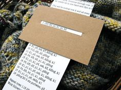 How to keep your place in your pattern when knitting! Why didn't I think of this!