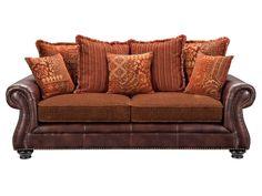 Seville Row Rust Sofa - American Signature Furniture #ValueCityPinToWin