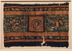 Fragment of a Band Object Name: Fragment Date: 6th–7th century Geography: Egypt Culture: Coptic Medium: Linen, wool; tapestry weave Dimensions: H. 6 1/2 in. (16.5 cm) W. 9 3/8 in. (23.8 cm) Classification: Textiles