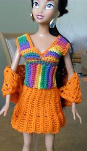 Ravelry: Ribbed V-Neck Top for Barbie pattern by Vicki Johnson