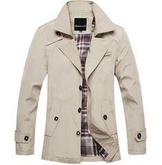 Free Shipping 2015 New Autumn Winter Korean Mens Short Trench Coat ...